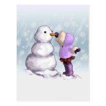 Snow Friend Postcard