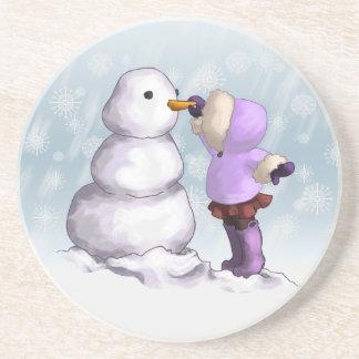 Snow Friend Sandstone Coaster