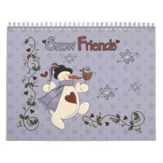 Snow Friends 2012 Calendar