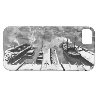 Snow from Brooklyn Heights 1922 iPhone SE/5/5s Case