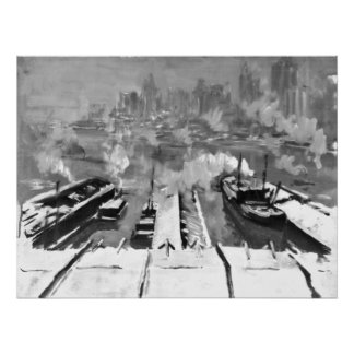 Snow from Brooklyn Heights 1922 Print