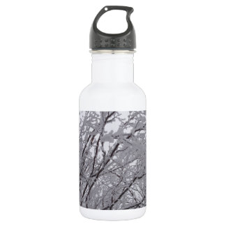 Snow Frosted Branches In Vermont 18oz Water Bottle