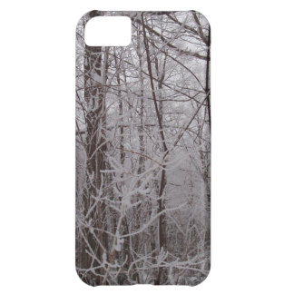 Snow Frosted New England Trees Cover For iPhone 5C