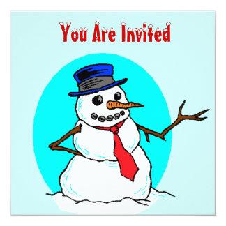 SNOW FUN WINTER PLAY DATE PARTY INVITATION SNOWMAN