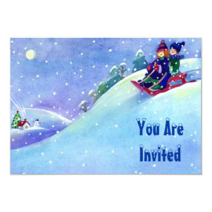 Sledding Party Invitations Announcements Zazzle