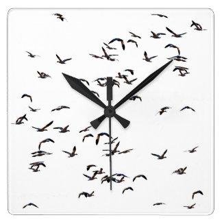 Snow Geese Birds Wildlife Animals Clock