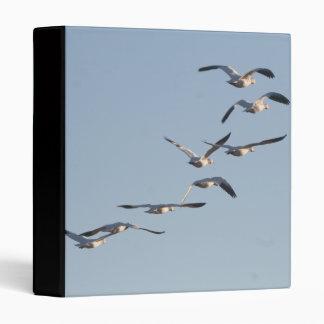 Snow Geese Birds Wildlife Animals Flying 3 Ring Binder