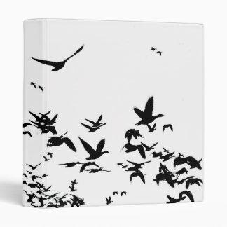 Snow Geese Birds Wildlife Animals Flying Binder