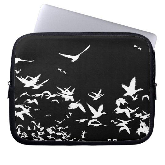 Snow Geese Birds Wildlife Animals Flying Computer Sleeve