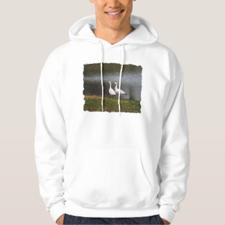 Snow Geese by the Pond Hoodie