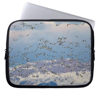 Snow geese during spring migration 2 laptop computer sleeve