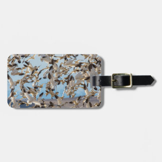 Snow Geese Fill The Sky After Feeding In Barley Luggage Tag