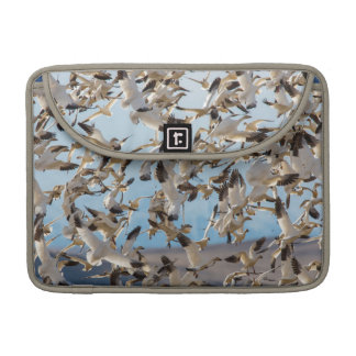 Snow Geese Fill The Sky After Feeding In Barley MacBook Pro Sleeve