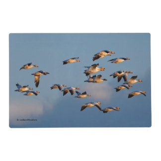 Snow Geese in Sunset Flight Placemat
