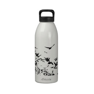 Snow Geese Migrating Liberty Drinking Bottle