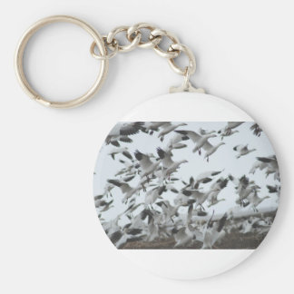 Snow Geese Migration Keychain