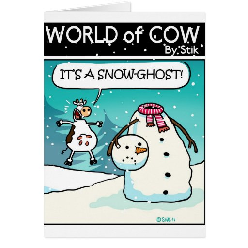 SNOW GHOST! GREETING CARDS