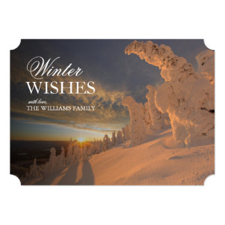 Snow ghosts in the Whitefish Range, Montana 5x7 Paper Invitation Card