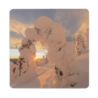 Snow Ghosts In The Whitefish Range Puzzle Coaster