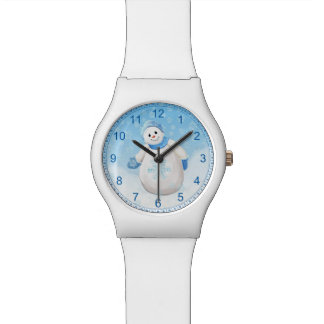Snow Girl and Snowflakes Watches
