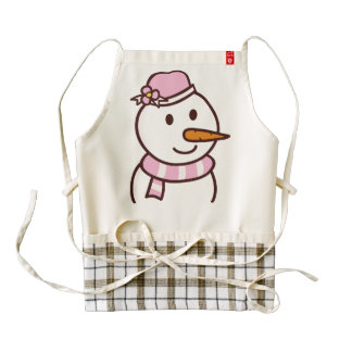 Snow girl apron