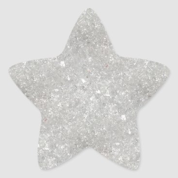 Aqua Snow Glitter Star Sticker