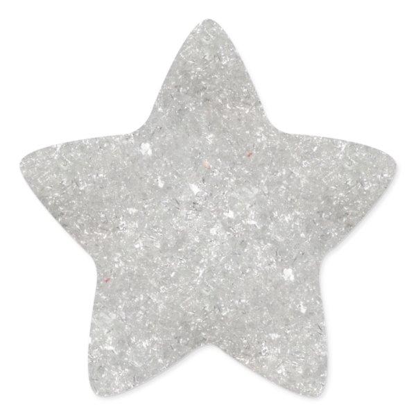 Snow Glitter Star Sticker