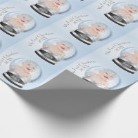 Snow Globe blue boy Baby's 1st Christmas Photo Wrapping Paper