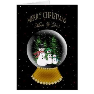 SNOW GLOBE - CHRISTMAS - MOM & DAD (Parents) Card