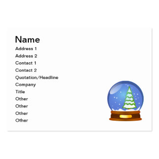 Snow globe clipart large business cards (Pack of 100)