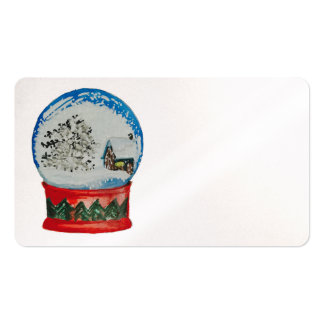 Snow Globe Crystal Ball Winter Village Christmas Double-Sided Standard Business Cards (Pack Of 100)