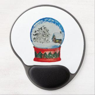 Snow Globe Crystal Ball Winter Village Christmas Gel Mouse Pad