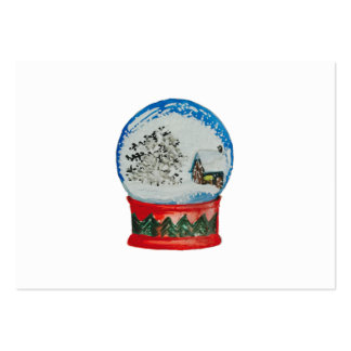Snow Globe Crystal Ball Winter Village Christmas Large Business Cards (Pack Of 100)