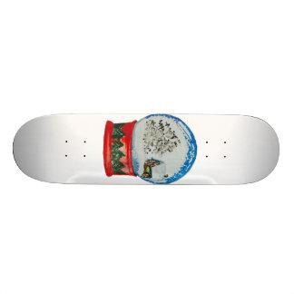 Snow Globe Crystal Ball Winter Village Christmas Skateboard