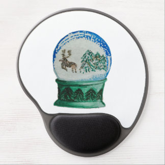Snow Globe Glass Ball Winter Wonderland Christmas Gel Mouse Pad