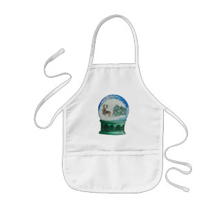 Snow Globe Glass Ball Winter Wonderland Christmas Kids' Apron