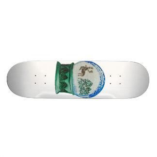 Snow Globe Glass Ball Winter Wonderland Christmas Skateboard Deck