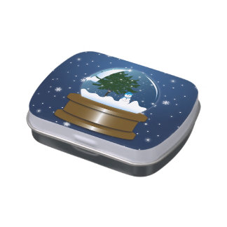 Snow Globe Jelly Belly Candy Tins