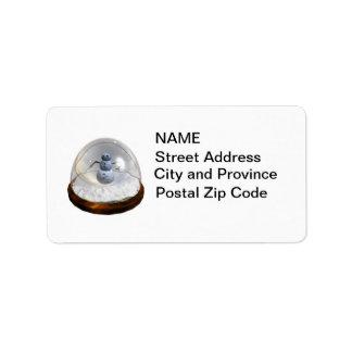 Snow Globe Label