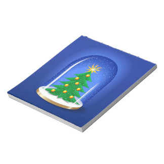 Snow Globe Notepad