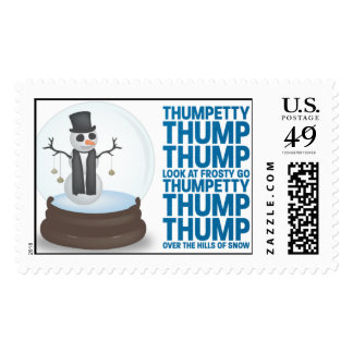 Snow Globe - Peacock Stamps