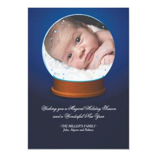 Snow Globe Photo Card