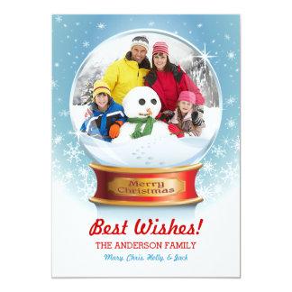 Snow Globe Photo Christmas Card I