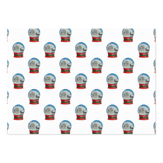 Snow Globe Repeat Pattern Winter Village Christmas Large Business Cards (Pack Of 100)
