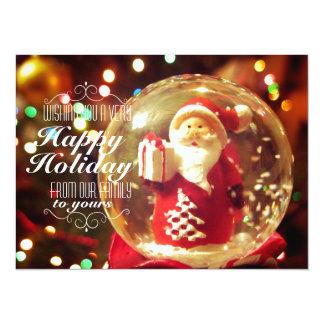 Snow globe Santa Claus Card