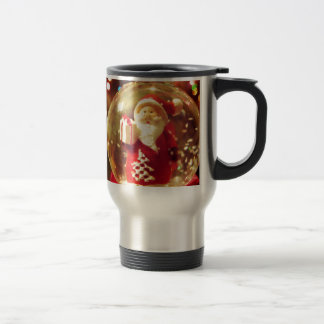 Snow globe Santa Claus Travel Mug