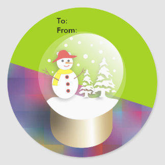 Snow Globe Stickers-Gift Tags