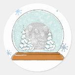 snow globe template stickers