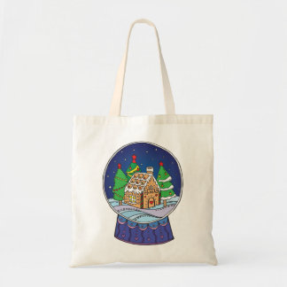 Snow globe tote bag