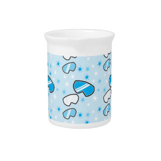 Snow goggles winter repeating pattern beverage pitcher